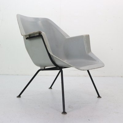 Model 416 Fiberglass Shell Chair by Wim Rietveld & Andre Cordemeyer for Gispen, 1950s