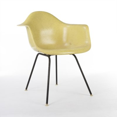 Lemon Yellow Herman Miller Original Vintage Eames DAX Dining Arm Chair