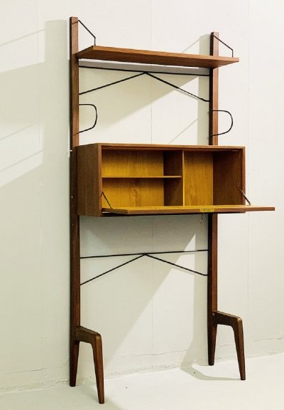 Italian Free Standing Shelving Unit by ISA, 1960s