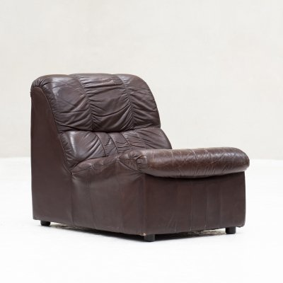 Leather Lounge chair, Italy 1970's
