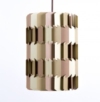 Facet Pop hanging lamp by Louis Weisdorf for Lyfa, 1950s