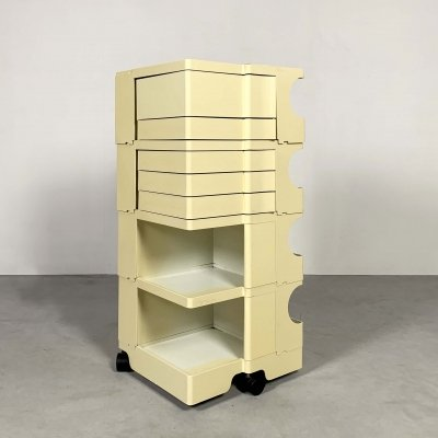 White Boby Trolley by Joe Colombo for Bieffeplast, 1960s