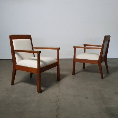 Pair of Sophisticated 'Amsterdamse School' chairs, 1920s