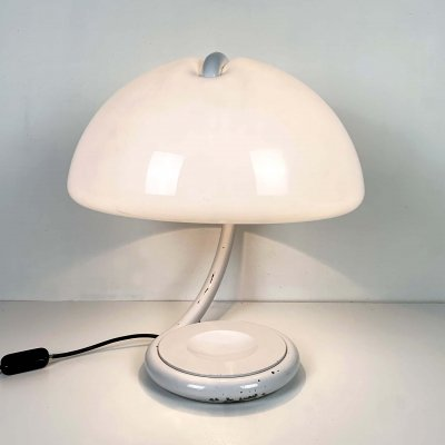 White Serpente Table Lamp by Elio Martinelli for Martinelli Luce, 1970s