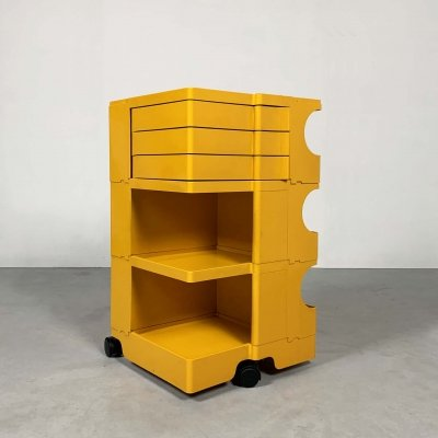Yellow Boby Trolley by Joe Colombo for Bieffeplast, 1960s