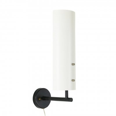 Black & white Anvia wall light by J. Hoogervorst, 1960s