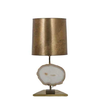 Agate Table Lamp from Belgium, 1970