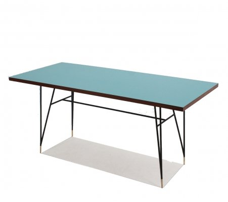 Italian design mid century formica dining table, 1950s