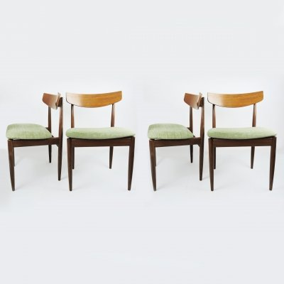 Set of 4 Vintage Teak Dining Chairs by Kofod Larsen for G-Plan, 1960s