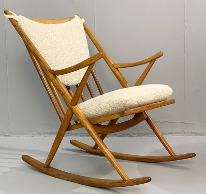 Danish Rocking Chair by Frank Reenskaug for Bramin, 1960s