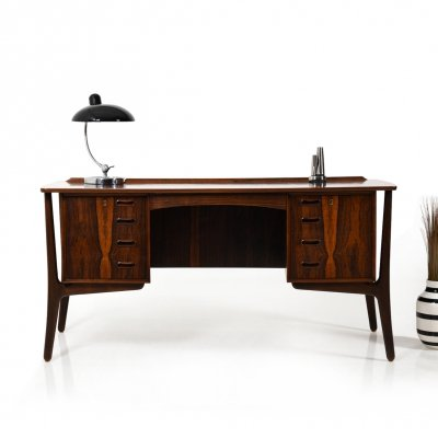 Early Mid Century Danish Desk by Svend Aage Madsen for H.P. Hansen