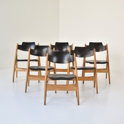 SE18 dining chairs by Egon Eiermann for Wilde & Spieth, Germany 1952