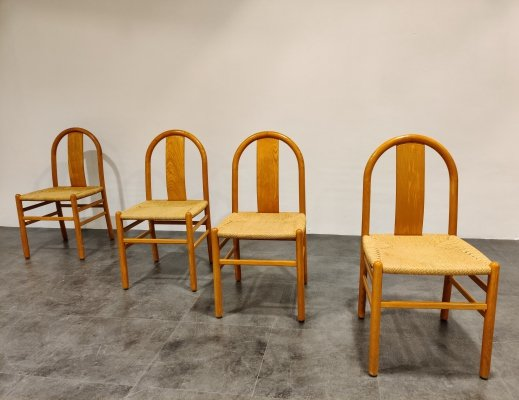 Set of 4 Mid century Scandinavian dining chairs, 1960s