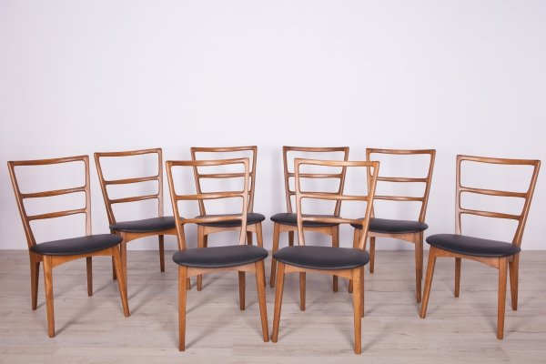 Set of 8 Dining Chairs by Mariana Grabińskiego for Swarzędzka Factory, 1960s