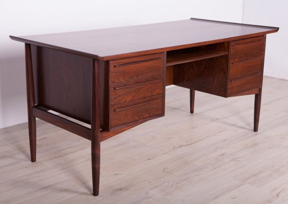 Mid-Century Danish Rosewood Desk by Arne Vodder for H.P. Hansen, 1960s