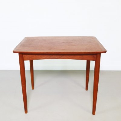 Small teak side table by Mobel Intarasia, 1960s