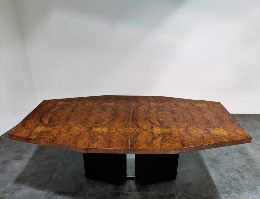 Exceptional Milo Baughman dining table, 1970s