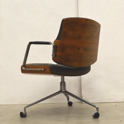 Rosewood FK84 Office Chair by Fabricius & Kastholm for Kill International, 1960s