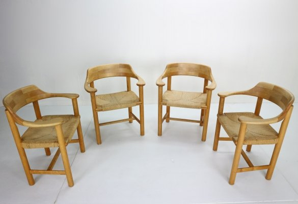 Set of 4 Rainer Daumiller for Hirtshals Sawmill Dining Room Chairs, Denmark 1970