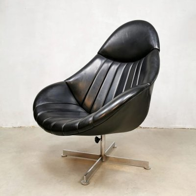 Vintage Dutch design swivel chair by Rudolf Wolf for Rohe Noordwolde