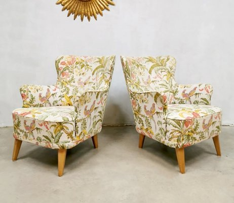 Set of 2 vintage lounge chairs by Theo Ruth for Artifort
