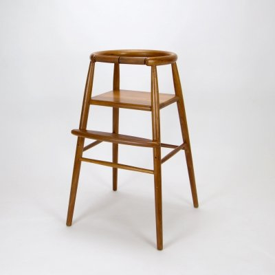 Nanna Ditzel Model 115 Child's High Chair in Teak, Denmark 1970s