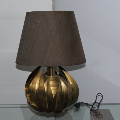 Maison Jansen brass table lamp, 1970s