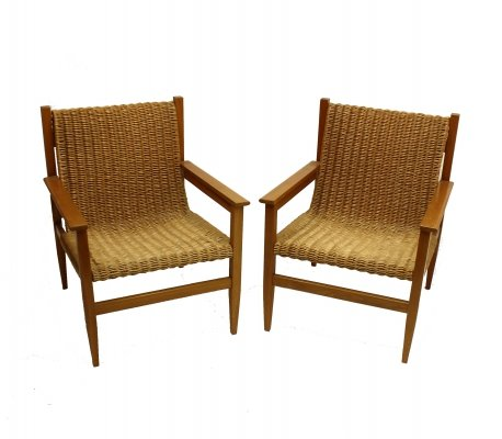 Set of rattan chairs, 1960s
