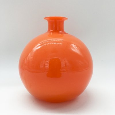 1970's Orange Murano Glass Bottle