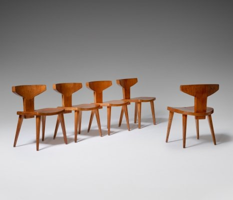 Danish Pine Dining Chairs by Jacob Kielland-Brandt, 1960s
