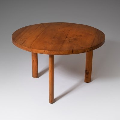 Round dining table in Solid Elm, 1960s