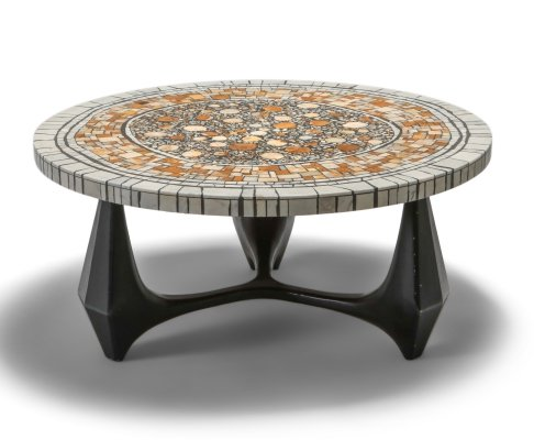 Heinz Lilienthal 'Chartre' marble mosaic coffee table, 1973