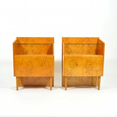 Set of birch bedside tables, 1960s