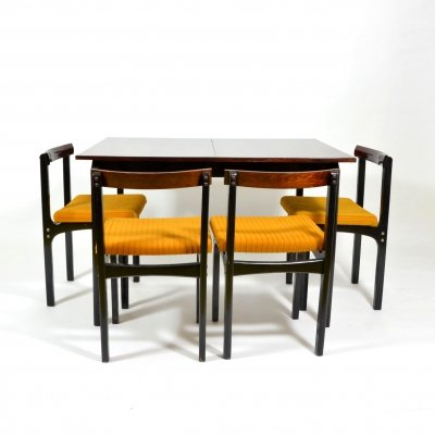 Set of 6 Dining Chairs And Folding Table, Russia 1970s