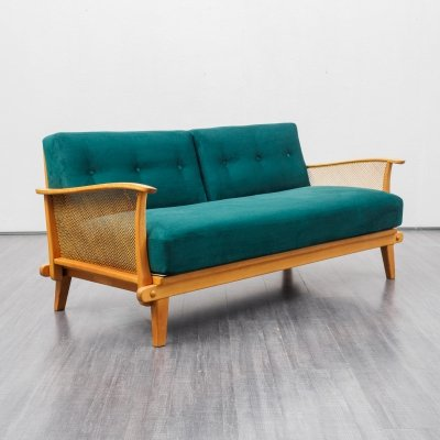 Mid-Century sofa / daybed in cherrywood, 1950s