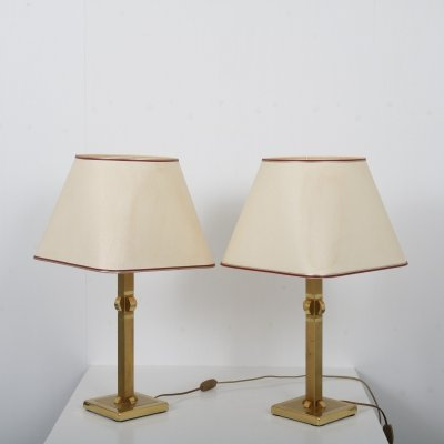 Pair of luxurious table lamps by Herda, 1970s