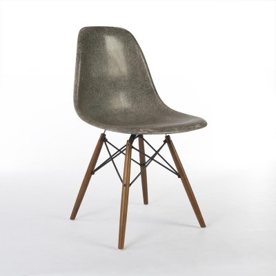 Elephant Grey Herman Miller Original Vintage Eames DSW Dining Chair,1950s