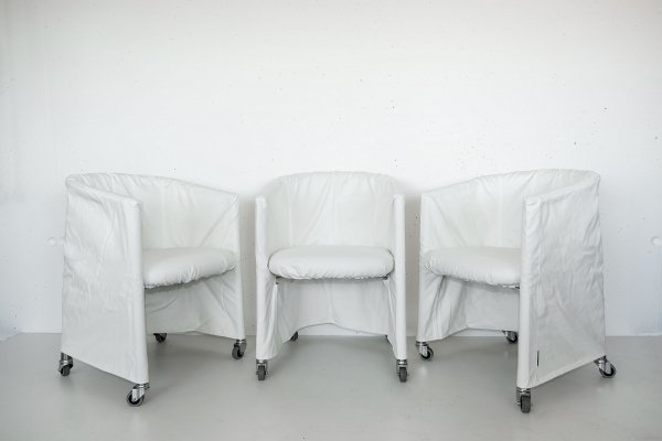 Set of 6 Mixer arm chairs by Flexform, 1980s