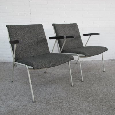 Pair of Oase easy chairs by Wim Rietveld for Ahrend de Cirkel, 1950s