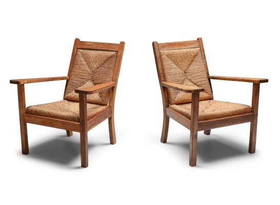 Rustic Modern Chairs 'Worpswede', 1960s
