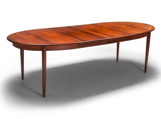 Danish Modern Extendable Dining Table by Møller, 1970s