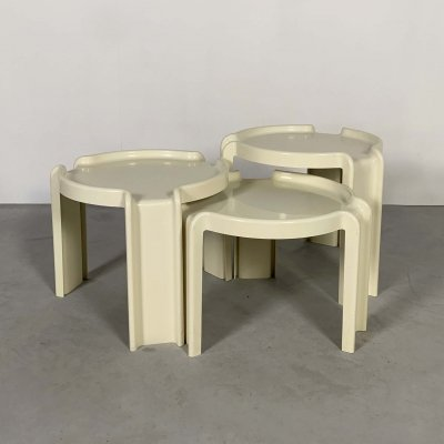 Nesting Tables by Giotto Stoppino for Kartell, 1970s