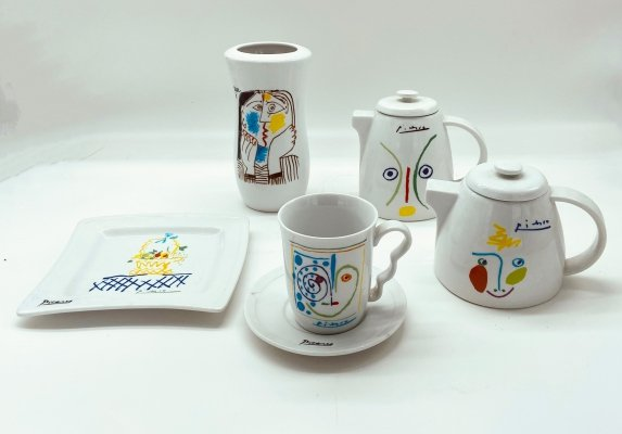 1960's Picasso Collection porcelain items by Tognana