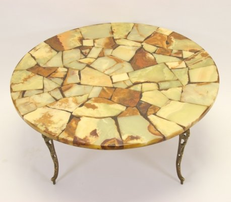 Marble epoxy coffee table, 1960's