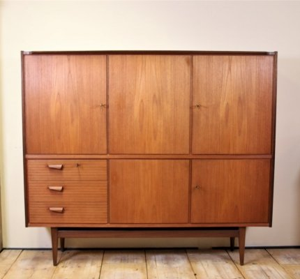 Solid teak highboard, 1960's