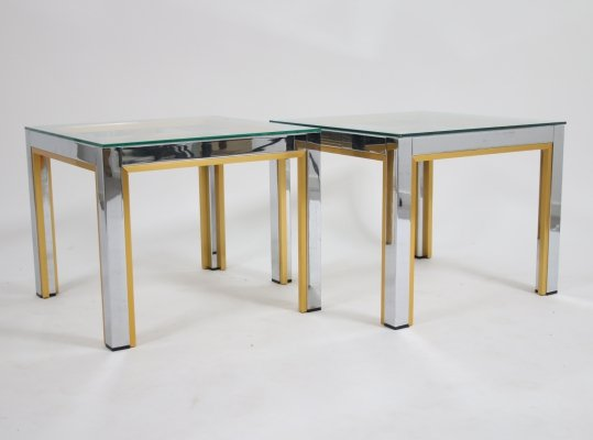 Pair of Renato Zevi side tables, Italy 1970s