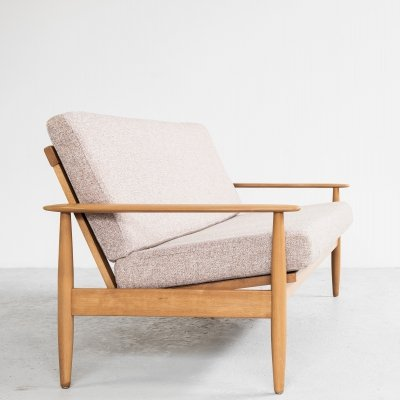 Midcentury Danish sofa in solid beech, 1960s
