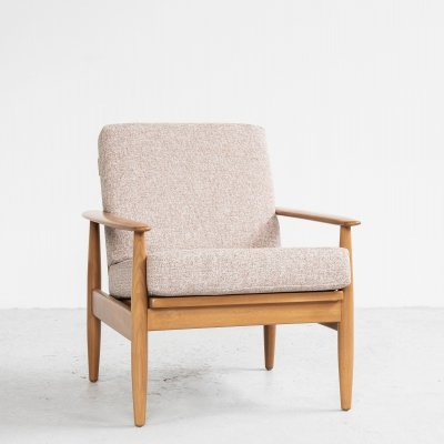 Midcentury Danish easy chair in solid beech, 1960s