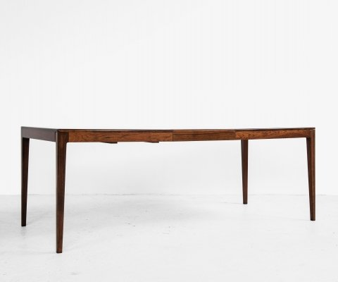 Midcentury Danish dining table in rosewood by Rosengaarden, 1960s