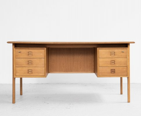 Midcentury Danish desk in oak by Arne Vodder for Sibast, 1960s